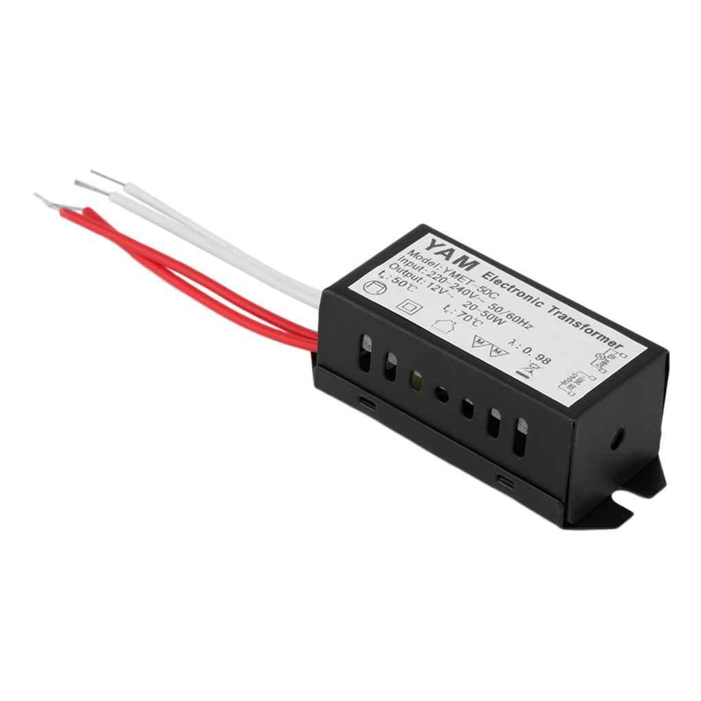 ELENXS Lampe halogène Transformateur électronique Driver de LED AC 220 V à 12 V 20-50W