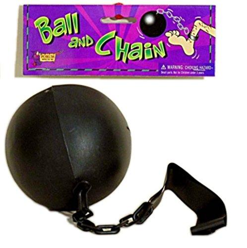 Ball and Chain Prisoner Costume Accessory Black