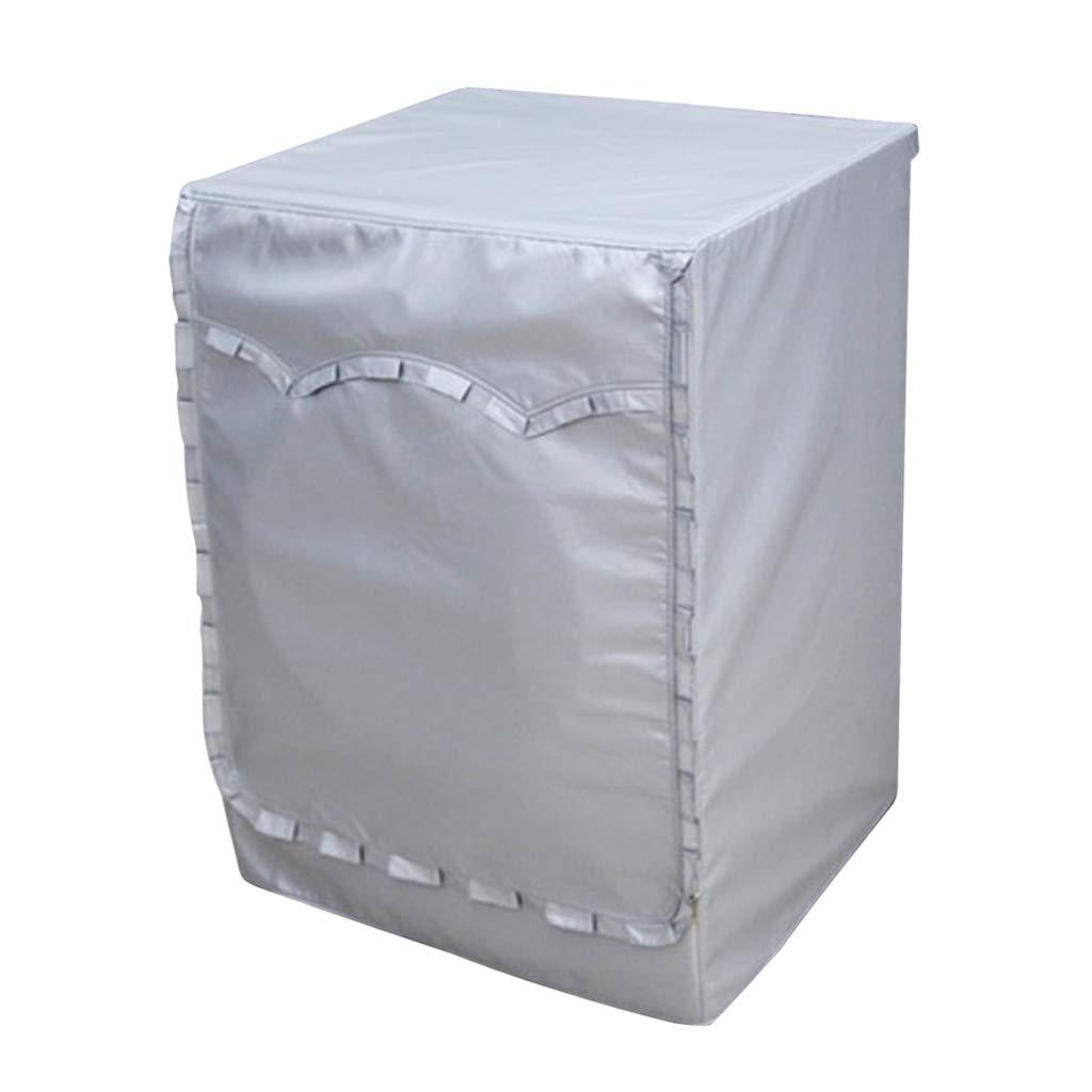 B Blesiya Waterproof Sunscreen Drum Washing Machine Washer Cover for Bathroom Balcony - Style C_M