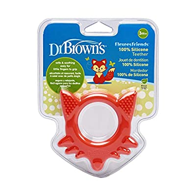 Dr. Brown's Flexees Friends Silicone Teether, Orange Fox : Baby