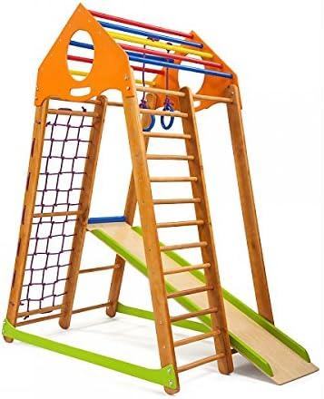 Madera campo de juego infantil, Centro de actividades, escalera ...