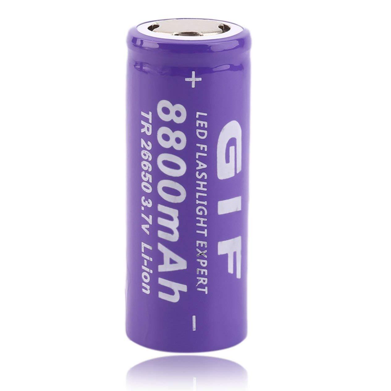Li-Ionen-Akku, 26650 3,7V 8800mAh umweltfreundlicher Akku, für LED-Taschenlampe für LED-Taschenlampe Ironheel
