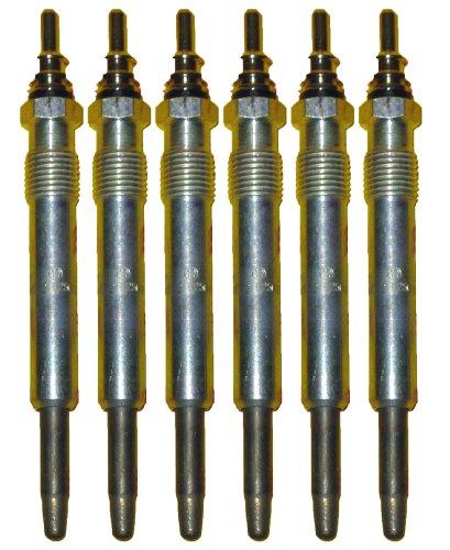 6 Piece Bosch OEM Glow Plug Set # 0250201054 / 80013 - Mercedes Benz # 0011592001 / 0011592101 (Replaces Bosch # 0250201038)