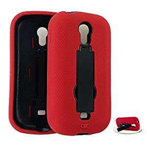 Cell Armor Jelly Case Samsung Galaxy Light, T399 Double Layer Case Cover, Locking Kick Stand (Red, Black) Metro Pcs, T-Mobile by Maris's Diary