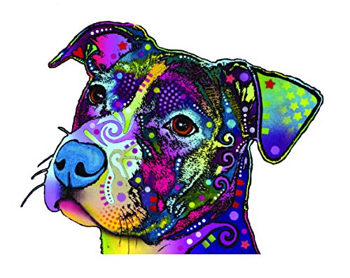 Rottweiler Bull Pit - Enjoy It Dean Russo Pit Bull Car Sticker, Outdoor Rated Vinyl Sticker Decal for Windows, Bumpers, Laptops or Crafts
