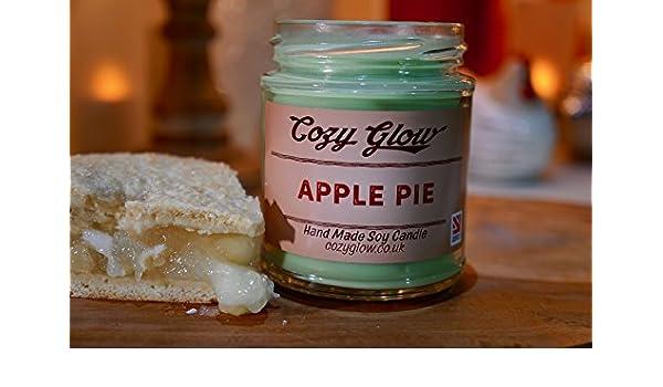 Acogedor resplandor 6,5 oz - vela de soja con aroma a tarta de manzana: Amazon.es: Hogar