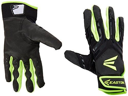 Easton Hyperskin - HF3 Fastpitch Batting Gloves, Black/OP, Small