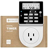Etekcity Light Timer Outlet, Plug-in Heavy Duty Timer Switch, Digital 7-day Programmable Infinite Cycle, Energy Saving, 15A/1875W