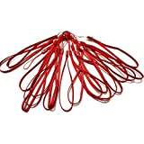 GTONEE 20PCS Bundle Colorful 7 Inch Durable Nylon Hand Wrist Strap Lanyard Straps / Strings Pack Rope for Hooking up Cellphone, Camera, iPod, Mp3, Mp4, USB Flash Drives,PSP Wii ,Pedometer, Keychains and Most Electronic Devices (Red)