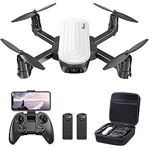 Potensic Drone Pliable Elfin avec Caméra 2K WiFi FPV Positionnement de Flux Optique Capteur de Gravité, Contrôle Gestuel…