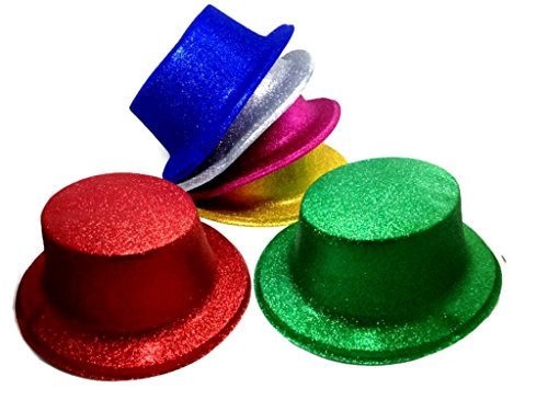 Pm Blue Handbag (Glitter Party Hats Pack of 6 pcs. (M))