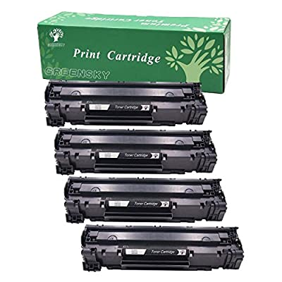 GREENSKY Remanufactured Replacement CE285A 85A Black Laser Toner Cartridge -1,500 Page Yield for HP Laser Jet P1005 P1006 P1102 P1102W Series Printers