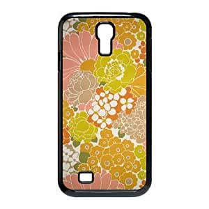 Retro Floral Flower ZLB535615 DIY Case for SamSung Galaxy S4 I9500, SamSung Galaxy S4 I9500 Case