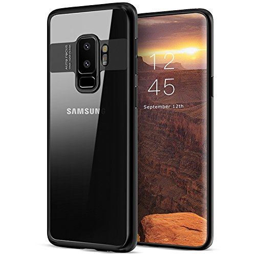 new styles a52f4 7af3b Hayder Samsung Galaxy S9 Plus Case Crystal Clear Bumper Shockproof  Protective Cover for Galaxy S9 Plus-Black