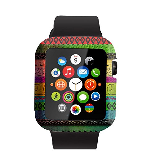 Case Replacement for Iwatch 42mm & Cisland Flexible Protective Protector Cover Compatible for Apple Watch 42mm Series 1/2/3 Sport & Edition Beautiful Colorful Aztec Design