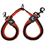 KRUZ PET KZVX2-08L No Tangle Dog Bungee Leash Coupler, Walking 2 Dogs, Large