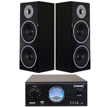 120 watt amplificador y sistema de altavoces con USB/MP3 ...