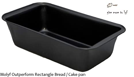 Outperform Molyf Rectangle Cake / Bread Loaf Mold / Tin / Pan, 23 cm * 12 cm * 5.6 cm Bread & Loaf Tins at amazon