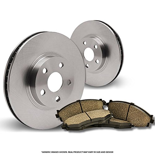 Front Kit-2 OEM Replacement Heavy Duty Brake Rotors + 4 Ceramic Pads-CTS-5lug Cadillac Heavy Duty Brake Pad