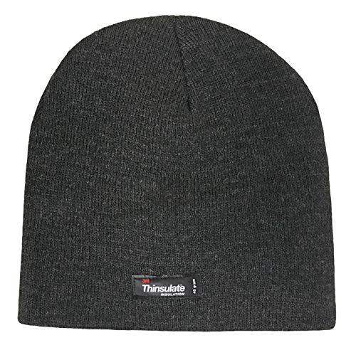 Thinsulate - Boys Kids Warm Thin Thermal Fleece Insulated Plain Knit Winter Hat (6-9 Years, Grey)