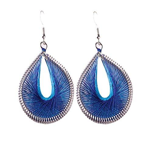 OWEGAI-80 Dangler Bohemian Style Wind Handmade Earrings Individuality Earrings