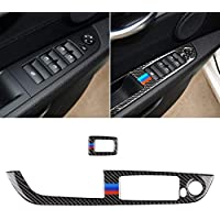 Car Carbon Fiber Window Lift Panel Without Folding Key BMW Color Decorative Sticker for BMW Z4 2009-2015