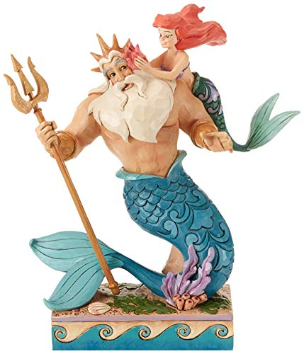 (Enesco Disney Traditions by Jim Shore Little Mermaid Ariel and Triton Figurine, 9.7