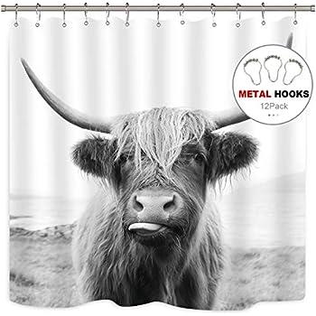 Amazon.com: Jirafa cortina de ducha – zblx jirafa patrón ...