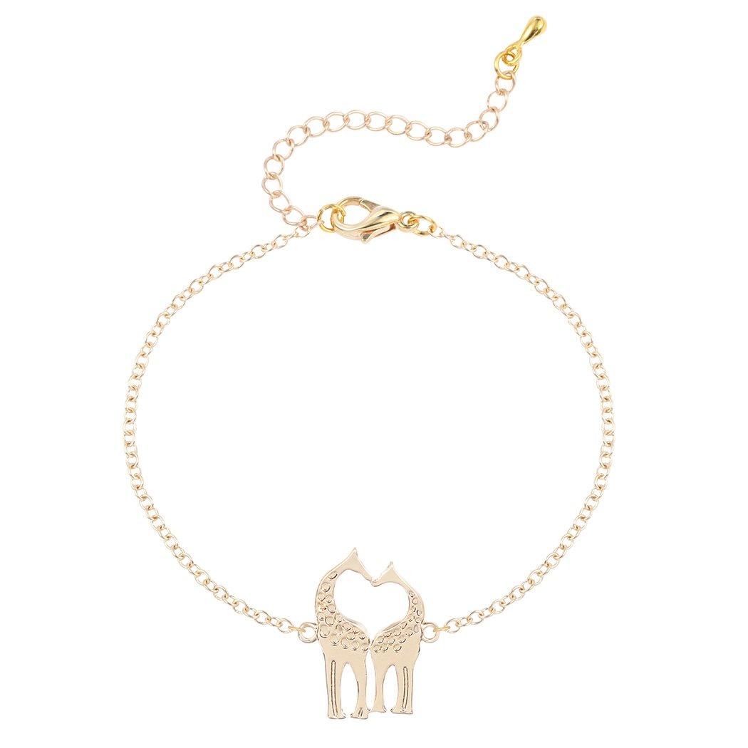 Unique Tiny Giraffe Animal Bracelet Plating Alloy Sweetheart Tennis Bracelet BEC00023