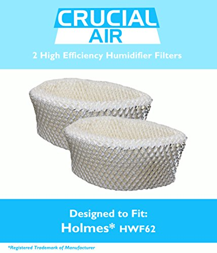 2 Replacements for Holmes HWF62 Humidifier Filter Fits HM1701, HM1761, HM1300 & HM1100, Compatible With Part # HWF62, by Think Crucial