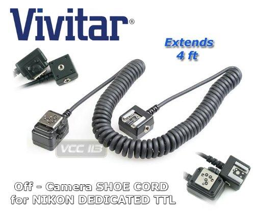 Vivitar FCNIK Flash Cord for Nikon Digital Cameras (Black)