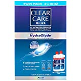 Clear Care Cleaning & Disinfecting Solution with Lens Case, Twin Pack, 16-Ounces Each (Pack of 4) V%HQOR