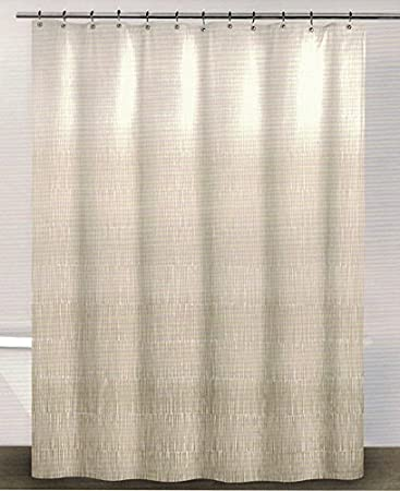 DKNY Twine Linen (Beige) Cotton Fabric Shower Curtain