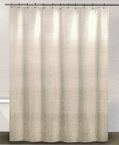 DKNY Twine Linen Beige Cotton Fabric Shower Curtain