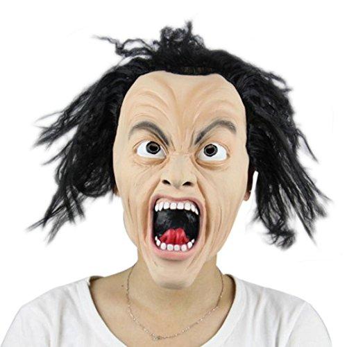[Halloween Mask! Elevin(TM)2016 Halloween Party Cosplay Mask Terror Skull Skeleton Zombie Wacky Mask Head Mask Headgear Decoration] (Hanging Slashing Zombie)