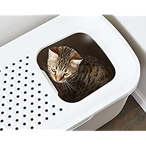 Savic Hop in Modern Cat Litter Tray, Anthracite (58.5x39x39.5cm)
