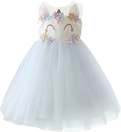 Flower Girl Princess Tutu Fancy Dress Toddler Baby Wedding Party Pageant Dresses