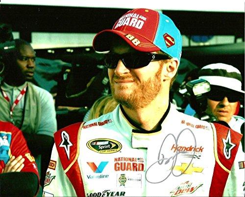 Signed Earnhardt Jr. Photograph - 2014 SUPERMAN DC COMICS NATIONAL GUARD 8x10#2 - Autographed NASCAR Photos ()