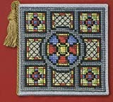 Textile Heritage Needle Case Counted Cross Stitch Kit - Stained Glass Window