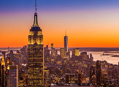 Adult Jigsaw Puzzle The Empire State Building New York City Skyline Skyscrapers 500-Pieces