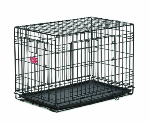 42 dog crate double door - 4