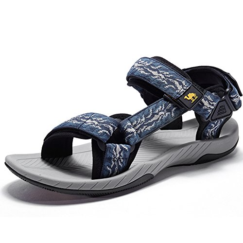 (Camel Mens Athletic Sandals Outdoor Strap Summer Beach Fisherman Water Shoes, Blue, 10.5 US-265mm-10.43inch)