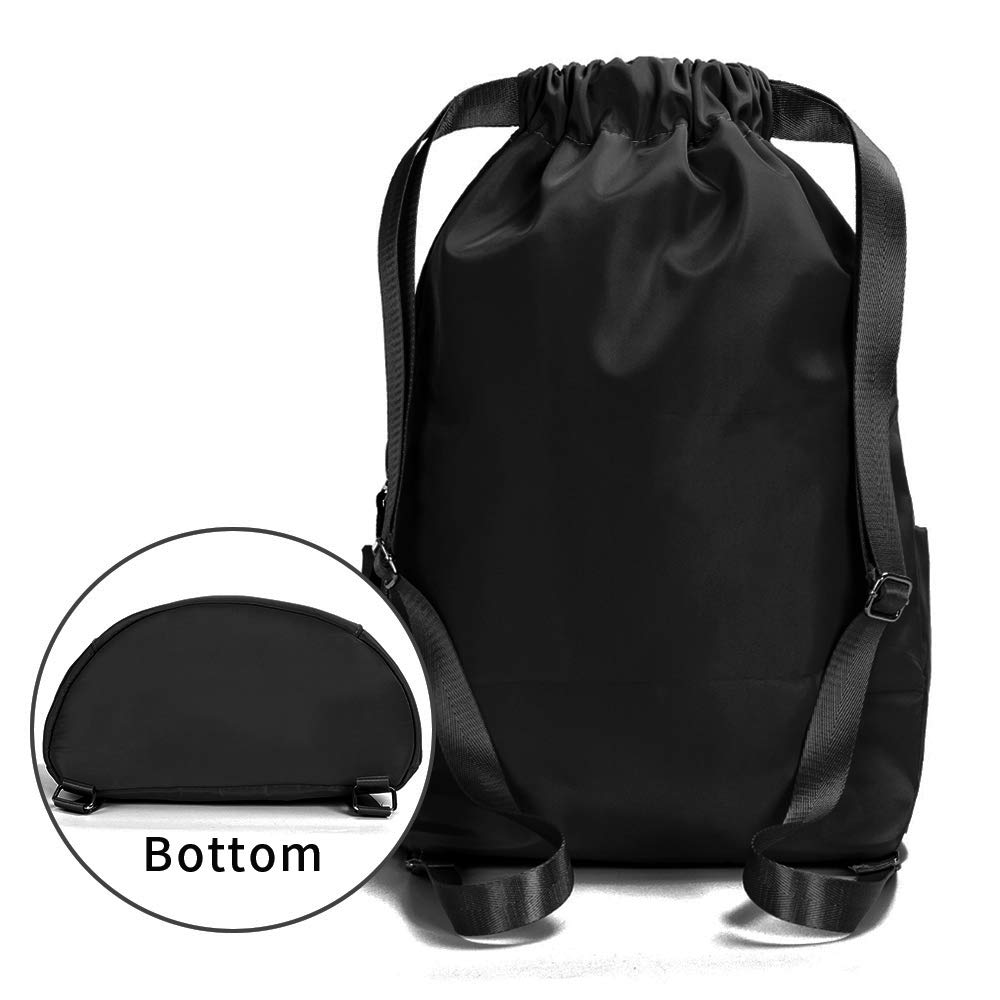 6a236ffd7 Amazon.com | ZOORON Waterproof Drawstring Gym Backpack Bag for Men & Women,  Sport Gym Sack Mini Travel Daypack | Drawstring Bags