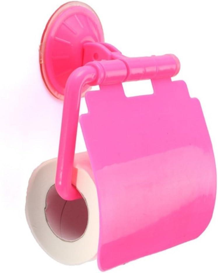 bagno ventosa da parete a forma di carta Racks Lavatory Sucker rotolo porta carta velina Fashion cover Storage box ANKK0 Porta carta igienica Pink