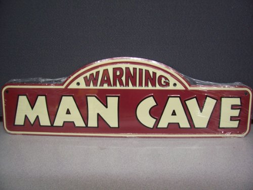 Dc85029 Embossed Metal Warning Man Cave Street Sign