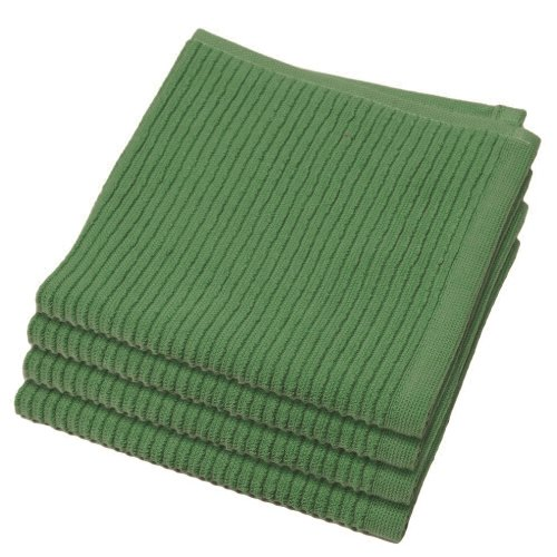 - Now Designs Ripple Kitchen Dishcloth, Set of 4, Verde Green