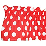 Red Curtain Valance for Windows – Crabtree Collection – Red Polka Dot (16 x 60) Review