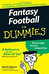 Fantasy Football For Dummies (For Dummies (Sports & Hobbies))
