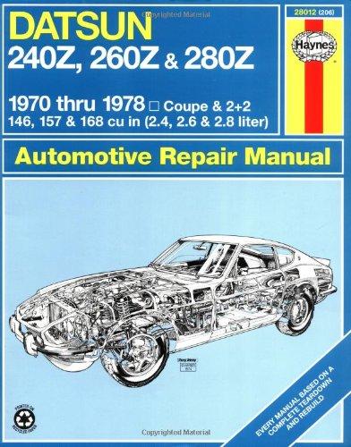 Haynes Datsun 240Z, 260Z, and 280Z Manual, 1970-1978 (Haynes Repair Manuals)