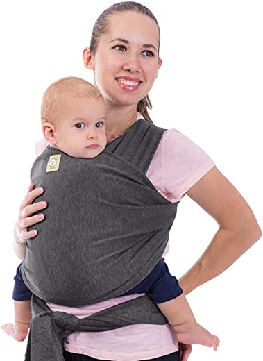 Baby Wrap Carrier by KeaBabies - All-in-1 Stretchy Baby Wraps - Baby Sling - Infant Carrier - Babys Wrap - Hands Free Babies Carrier Wraps | Great Baby Shower Gift (Mystic Gray)